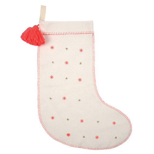 meri meri ♥Embroidered Stars Felt Stocking (30-0088)