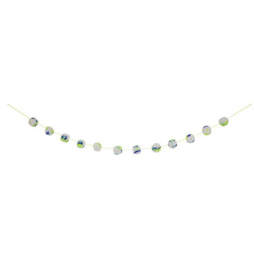 Green Marbled Pompom Garland 169588